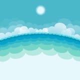 Naturmeerblickhintergrund mit Meer und Sonne