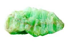 Naturmineral des Jadesteins auf weißem Hintergrund Stockbild