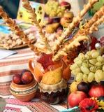 Naturmort con las frutas Foto de archivo libre de regalías