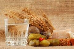 Naturmort russo della vodka Fotografia Stock Libera da Diritti