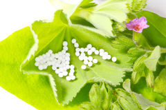 Naturopathy, globules Stock Photos