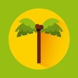naturpalmträd för liggande 3d Arkivfoto