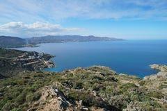 Naturpark Costa Brava Spaniens Cap de Creus lizenzfreie stockbilder