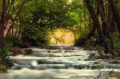 Naturpark mit Wasserfällen und Türkiswasser Lizenzfreies Stockbild