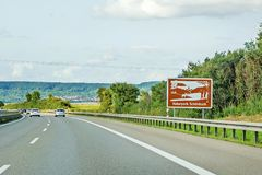 Naturpark Schoenbuch, znak, Autobahn, Niemcy obrazy royalty free