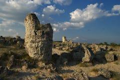 Naturphänomen Steinwald, Bulgarien-/Pobiti-kamani/ stockfoto