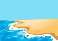 Naturplats med havet och stranden Fotografering för Bildbyråer