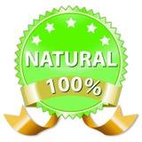 Naturprodukt- oder Nahrungsmittelkennsatz Stockbild