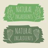 Naturproduktaufkleber Stockbilder