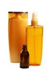 Naturprodukter för håromsorg arkivbild
