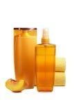 Naturprodukter för håromsorg arkivfoto