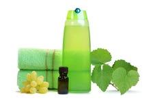 Naturprodukter för håromsorg arkivfoton