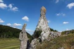 Naturreserv - Eselsburger Tal dal royaltyfria foton