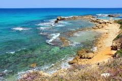Naturreservat Achziv im West-Galiläa, Israel Lizenzfreie Stockfotos