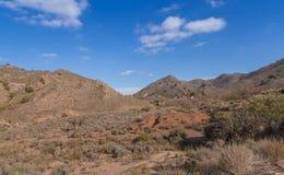 Naturreservat-Bereich Landschaft südöstliches Spanien Stockfotografie