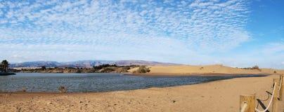 Naturreserven Charca de Maspalomas Fotografering för Bildbyråer