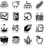 Naturresurssymboler Arkivbild