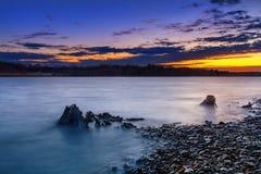 Naturs målares palett på soluppgång Arkivfoto