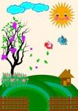Natursiktsvektor Arkivbild