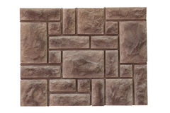 Naturstein auf der Wand Stockbild