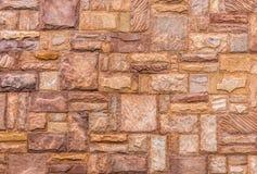 Naturstein deckt Wand mit Ziegeln Lizenzfreie Stockfotos