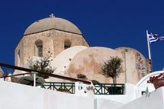 Naturstein-griechisch-orthodoxe Kirche, Oia, Santorini, Griechenland lizenzfreie stockfotos