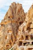 Natursteinfestung in Uchisar lizenzfreie stockfotografie