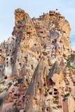 Natursteinfestung in Uchisar stockbilder