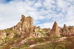 Natursteinfestung in Uchisar stockbild