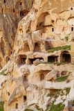 Natursteinfestung in Uchisar stockfotografie