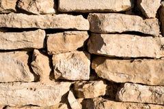 Natursteinwandnahaufnahme Stockfoto