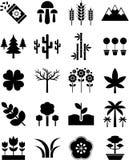 Natursymboler royaltyfri illustrationer