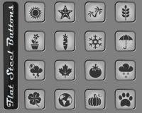 Natursymbolsuppsättning royaltyfri illustrationer