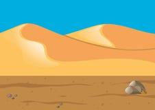 Naturszene mit Sand in der Wüste Lizenzfreie Stockfotografie