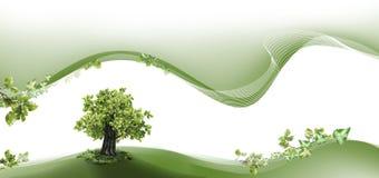 Naturvorsatz und -seitenende Stockfoto