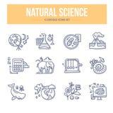 Naturwissenschafts-Gekritzel-Ikonen