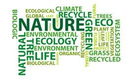 Naturwortwolke Stockbild