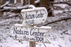 Natury centrum znaki Zdjęcie Stock