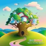 Natury domowy drzewo ilustracja wektor