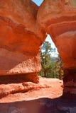 Natury drzwi wapień i Piaskowcowe rockowe formacje przy ogródem bóg Kolorado Obraz Royalty Free