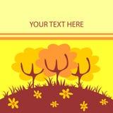 natury karciany śliczny kolor żółty Ilustracji