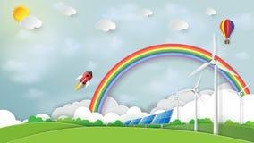 Natury krajobrazowa i zielona energia Obrazy Stock