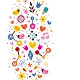 Natury miłości harmonii zabawy abstrakcjonistycznej sztuki wektoru tło Zdjęcia Stock