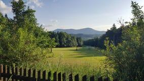 Natury piękna halny niebieskie niebo Zdjęcia Stock