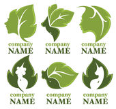 Natury piękna logo Zdjęcia Royalty Free