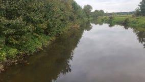 Natury rzeka przy eavening Obrazy Stock