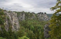 Natury skały krajobraz w sasie Szwajcaria Gemany Obrazy Royalty Free
