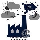 Natury zanieczyszczenia pojęcie Fotografia Stock