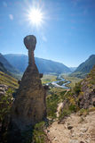Natury zjawisko i natura cudu kamień Rozrastamy się skały w Al Fotografia Royalty Free