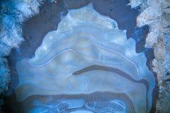 Natuurlijk abstract patroon op bevroren vulklei royalty-vrije stock foto's